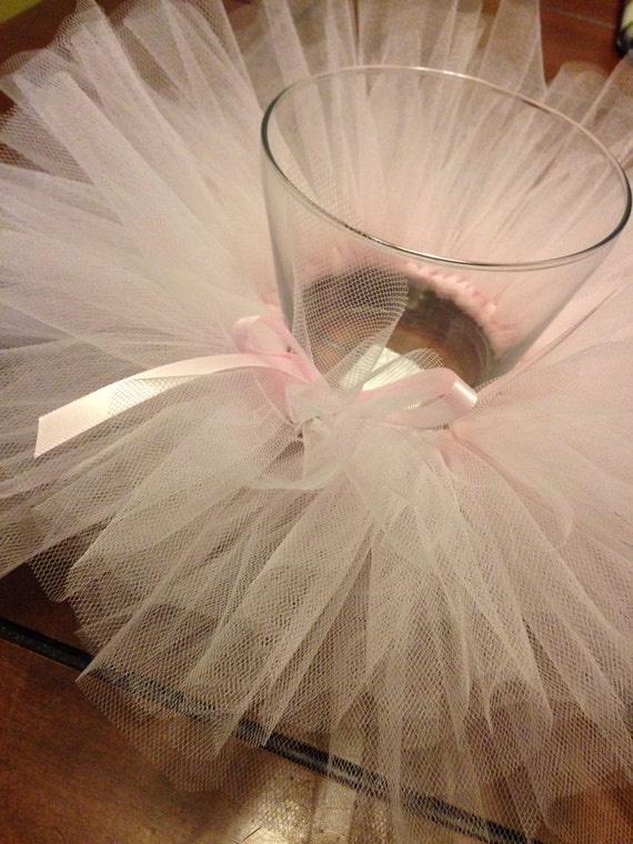 tutu centerpiece centerpieces shower baby tulle vase diy etsy only ballerina decorations princess ballet table gold glass decorating birthday floating