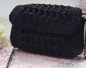 Handmade Crochet Evening Bag, Crochet Handbag Crochet Shoulder Purse Bag