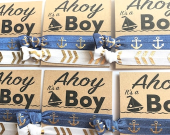 Ahoy its a boy! Baby shower favors , gender reveal , baby announcement