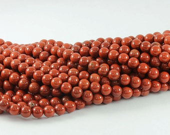 Wholesale Red Jasper AA+ 4, 6, 8,10,12, 14 mm. Smooth Round Beads, Natural Stone Beads, Beads for Handmade Jewelry, High Quality Beads