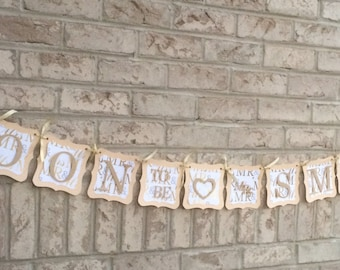 Personalized Soon-to-Be Wedding Banners, Wedding Decorations, Engagement Decor, Prop, Sign