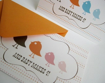 And baby makes 4- Single greeting card, you choose color...