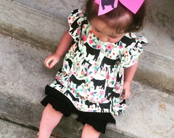 Heifer Print Boutique Outfit