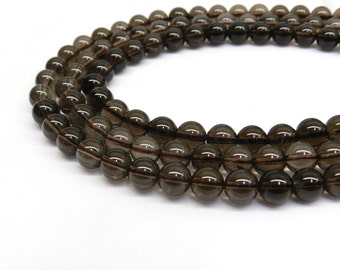 8mm Smoky Quartz,  Smoky Quartz Beads, Smokey Quartz Beads 6mm Beads 8mm Beads 8mm Gemstone Beads 6mm gemstone beads, Natural Stone