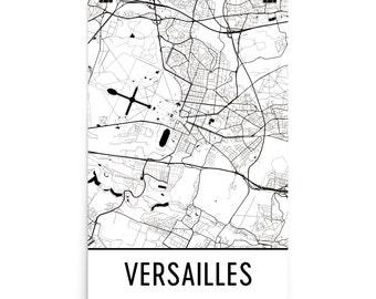 Versailles Map, Versailles Art, Versailles Print, Versailles France Poster, Versailles Wall Art, Map of Versailles, Versailles Gift, Decor