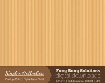 Instant Download Orange Pinstripe Printable Digital Paper for Scrapbooking - Digital Download Supply - Rustic Shabby Chic Digital Background