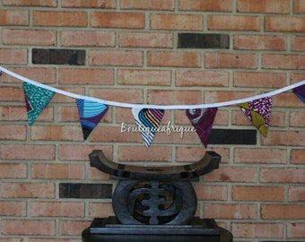 Bunting Banner - Fabric Banner - Fabric Garland - Fabric Bunting - Fabric Flags - Fabric Flag Banner - Fabric Flag Garland