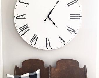 Big Clock 25 Roman Numeral Large Clock Custom