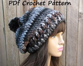 CROCHET PATTERN - Chunky Hat, Crochet Pattern PDF,Easy, Great for Beginners,  Pattern No. 61