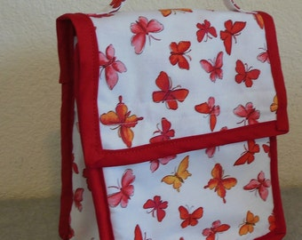 Insulated Lunch Bag - Butterflies