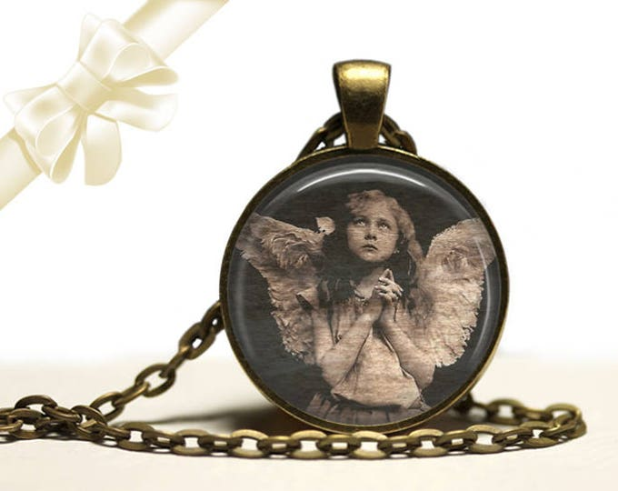 Angel Girl brass Pendant Necklace Free Shipping Gifts for her