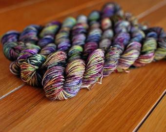 Dirty Birdy, MINI SKEIN, Hand Dyed Yarn, SW Sock