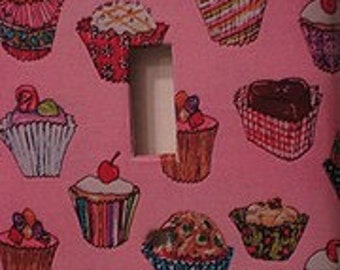Pink Cupcakes Light Switch Cover