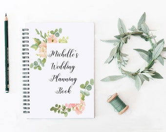 Custom Wedding Planning  - Journal - Bullet Journal - Notepad - Spiral Notebook - Wedding Gift - Bridal Shower  - Wedding Favour