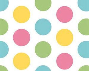 SALE-1 yard of Large Girl Dots by Riley Blake