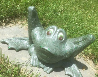 Ceramic yard frog