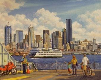 Seattle Ferry Boats