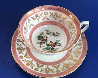 Royal Grafton Pheasant Bone China Tea Cup and Saucer Vintage England