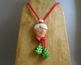 Mrs. Claus Bolo tie