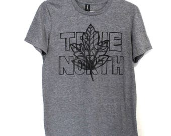 TRUE NORTH Canada Tee. Mens Canadian Tshirt. West Coast Best Coast. True North Tshirt. Canada 150. Strong and Free. Maple Leaf Tee. BC Pnw