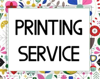Printing Services for Single Art Print , Zeppi Printables Art Downloads