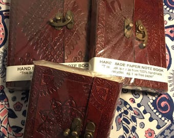 Handmade notebook with leather cover