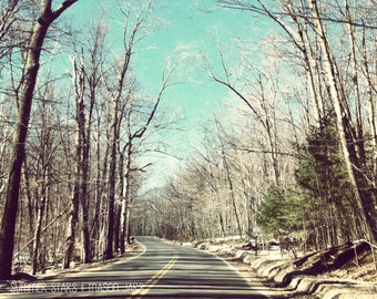 8x10 Winter Road Print - Landscape Photography