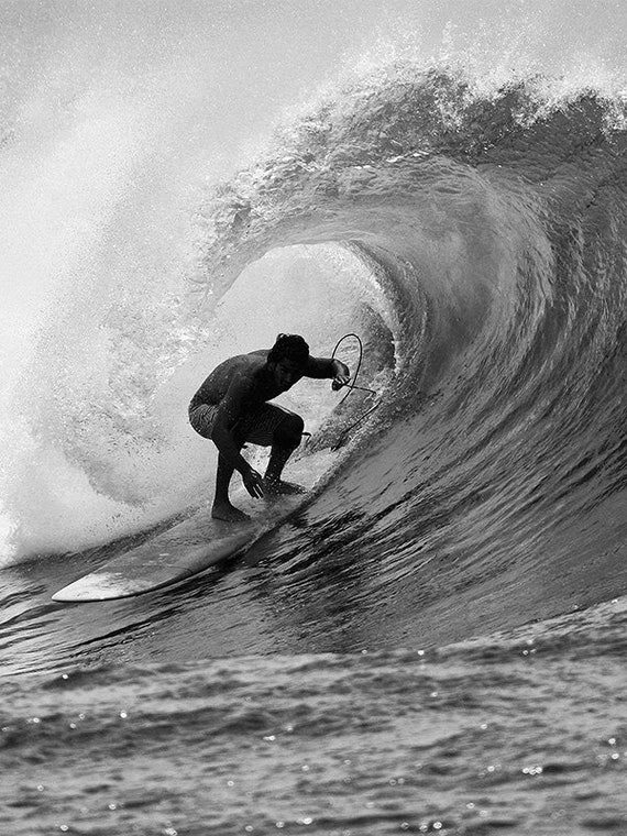 Black and white surfing photo surf photography fine art