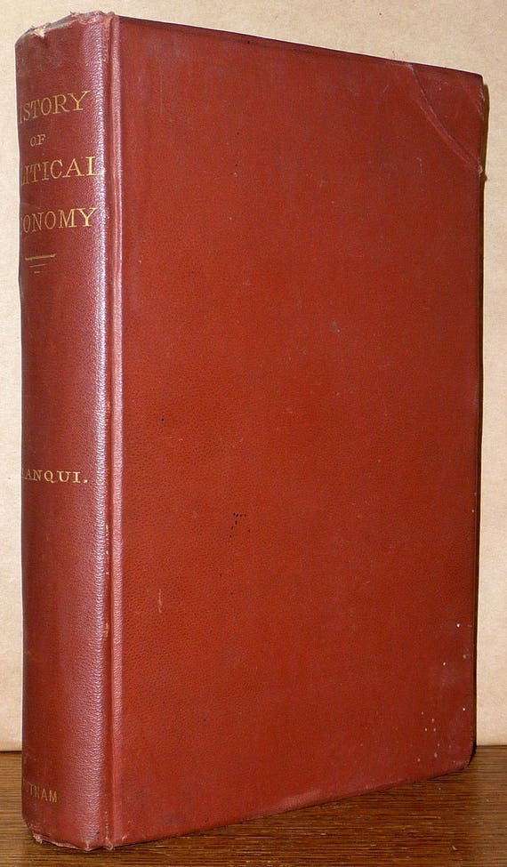 History of Political Economy in Europe by Jerome-Adolph Blanqui Hardcover HC Putnam Ca. 1880 Antique