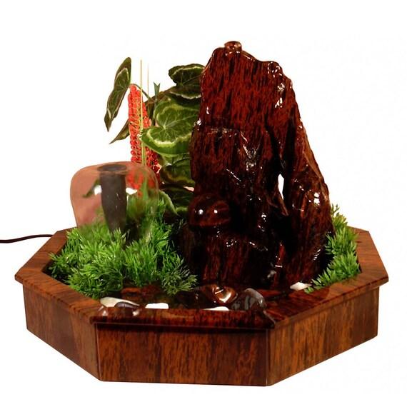 Fontaine Dintrieur Obsidienne Avec Des Plantes Dcoratives
