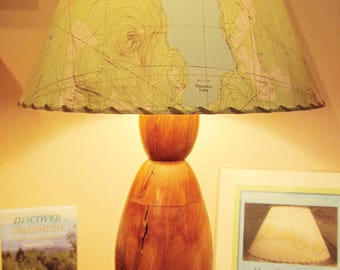 Map Lamp Shade, Custom Topographic MapShade, Custom Designed Lampshade, Map Lover Gift, Gift For Him, Custom Wedding Gift, Table Lamp Shade