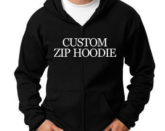 Create Your Own Zip Hoodie Men