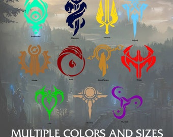 League Crests Decal Kit (Application Supplies Included)s -  Multiple Sizes and Colors, Free Customization!
