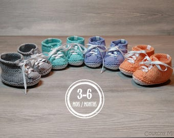 Baby converse knitted booties sport booties baby gift baby shower baby girl booties baby boy booties baby knit baby girl baby boy