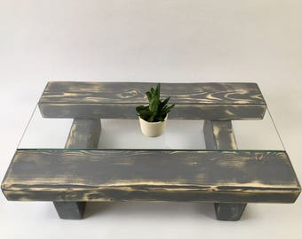 Rustic Coffee Table Chunky Coffee Table Wooden Coffee Table Sleeper Coffee Table Rustic Coffee Table