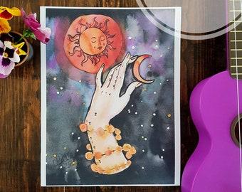 We, Who Hung the Heavens 8.5x11 print