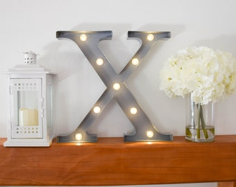 """Greek Letter Lights """"Chi"""" / Letter Marquee Light """"Chi"""" / Sorority Marquee Letters / Light up Letters / Sorority Lights / Marquee Signs"""
