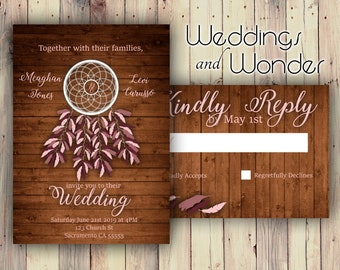 Dream Catcher Standard Glossy - Wedding Invitations