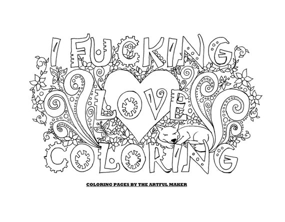 kleurplaten volwassenen love