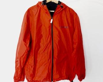Vintage 90s TOMMY HILFIGER Colorblock Red Hooded WINDBREAKER Jacket L Large