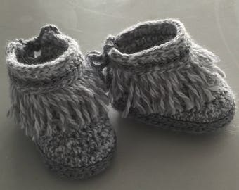 Baby Girl or Boy Moccasin Style Shoes