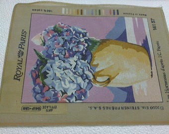 """""""Canvas embroidery""""Hydrangeas from JC Papeix""""30 x40cm"""""""