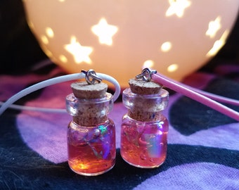 Pink Holographic Potion Necklace