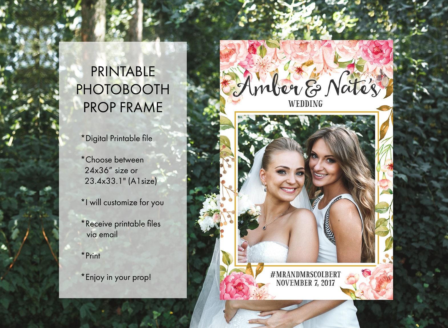Wedding bridal shower any occasion photo booth frame props zoom jeuxipadfo Choice Image