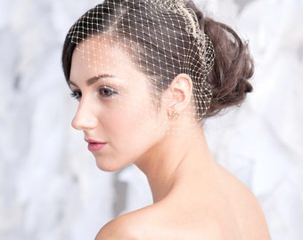 Mini birdcage veil, bridal veil - ready to ship - FREE SHIPPING*