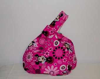 Japanese Knot bag/knitting bag Pink Minnie Mouse