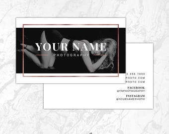INSTANT DOWNLOAD Business Card Photoshop Template, Photography Business Card Template, Boudoir PSD Template, Calling Card Template, BC10
