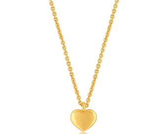 Heart Necklace Gold. Heart Pendant Necklace
