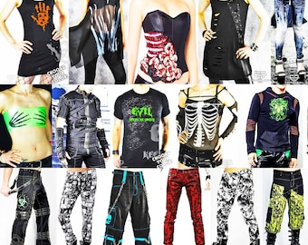 Cryoflesh 50 Cyberpunk Goth Rave Box with 100 worth of Clothing, Accessories and more