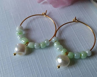 Earrings with Real pearl